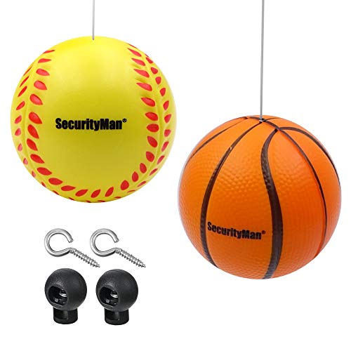 SECURITYMAN Garage Parking Aid Ball (2 PK) - Park Confidently Everytime - High Visibility, Soft, and Easy to Install Parking Assistant for Garage - Compatible with All Garages and Safe for Your Car