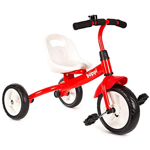 boppi Triciclo Infantil 3 Ruedas con Pedales, Rojo