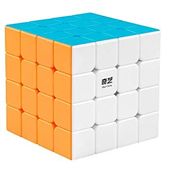 Coogam Qiyi 4x4 Speed Cube Stickerless Magic Puzzle Toy Gift for Kids and Adults Challenge  Qiyuan S Version