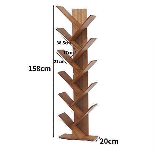 jhsms Estantería de Madera en Forma de árbol, Estante Abierto Engrosado Estante de Escalera de 2 a 6 Niveles Marco Decorativo Organizador de Almacenamiento Multifuncional -E 44x20x158cm (17x8x62inch)