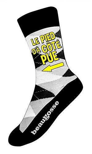 Chaussettes Humoristique Le Pied d'a Coté Pue Taille unique 39/45