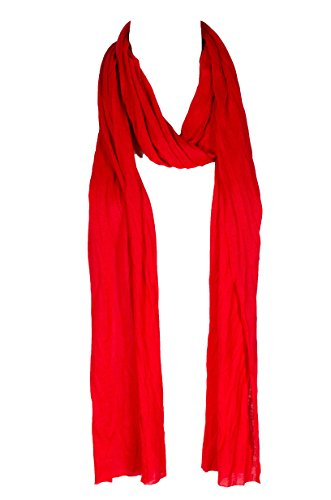 Plain solid Color Scarf, more than 40 colors, 76' long, 14' wide (#54 Christmas Red)