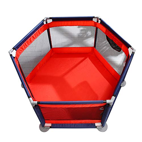 Parc De Jeu Barrière De Protection pour Enfants Aire De Jeu Intérieure Lit De Jeu pour Enfants Piscine À Balles pour Enfant Cadeau (Color : Red, Size : Fence)