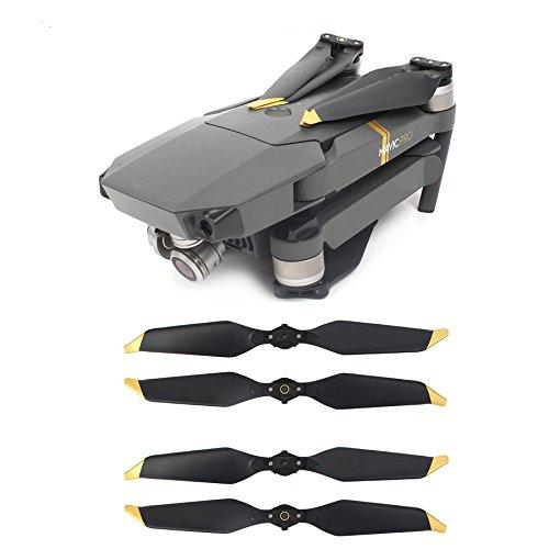 JIJIONG 4PCS 8331. Elica a Basso Rumore per DJI. Mavico PRO. Puntaloni di Platinum Drone Quick-Release Puntes Pezzi di Ricambio Blades ( Color : Gold )