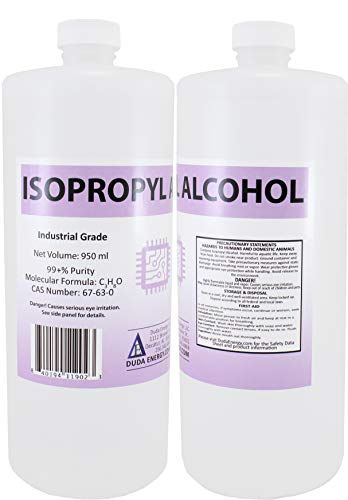 2 x 950ml Bottles of 99+% Pure Isopropyl Alcohol Industrial Grade IPA Concentrated Rubbing Alcohol