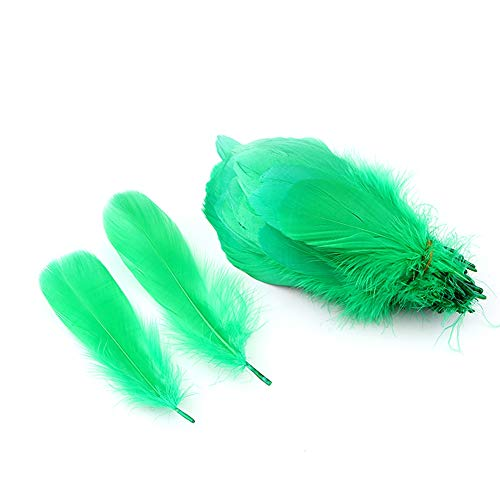 Sowder Natural Goose Feathers Clothing Accessories Pack of 100 (Dark Green)