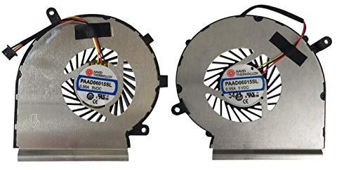 Dominexsus MSI 6QF GE60 GE62 GE72 GL62 GL72 PE60 PE70 MS-16GA Ventilador de CPU y GPU par izquierdo