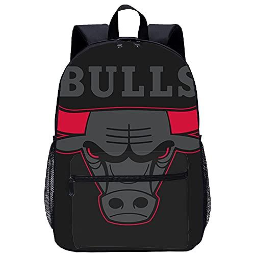 RomantiassLu Chicago Bulls NBA Mochila Impresión 3D Mochilas para portátil Mochila para portátil Mochila informal Novedad Vestir Mochila de viaje