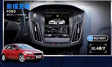 10.4 inch Octacore Android 1280X800 Car Tesla Style Vertical Screen 32GB ROM Bluetooth Radio Stereo GPS Navigation for Ford Focus 2012-2019 DVD Player (Android 7.1)