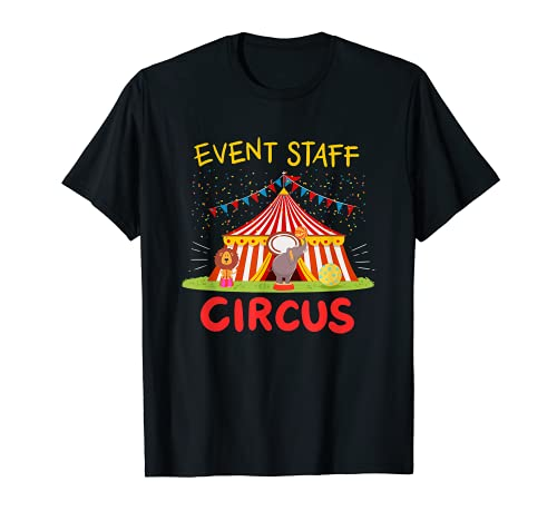 Event Staff Circus Tent Elephant and Lion T-Shirt