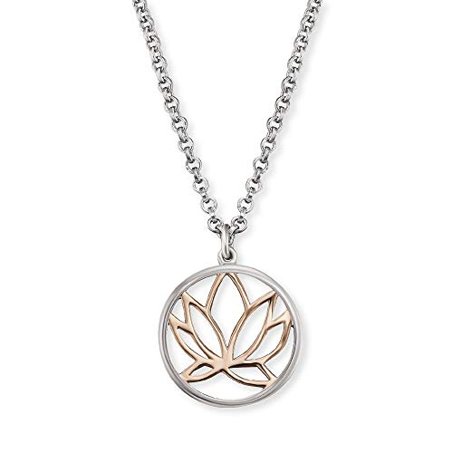 Engelsrufer Silber-Halskette für Damen Lotus ERN-LILLOTUS-BICOR