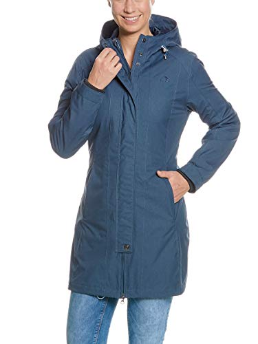 Tatonka Kurzmantel Jores W's Coat - eleganter Damen Mantel - Größe 46 - wasserdicht, atmungsaktiv, figurbetont und aus PFC-freiem Material - Regular Fit - Sapphire Blue