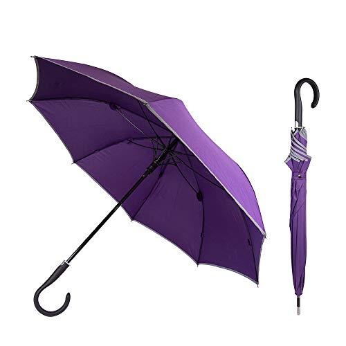 Sicherheitsschirm Damen - mit gratis Videokurs | Unzerbrechlicher Sicherheits-Regenschirm Selbstverteidigung | Security Defense Umbrella unbreakable