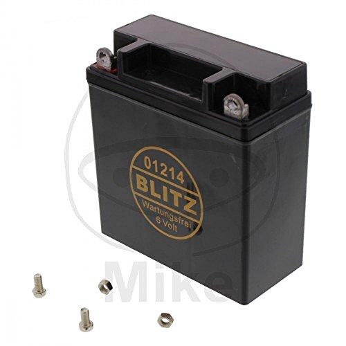 Batterie Motorrad 01214 Gel schwarz 6V