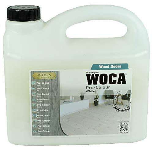 Woca Pre-Colour Fußboden, Möbel, Holz, Beize -Weiß- 2,5 Liter