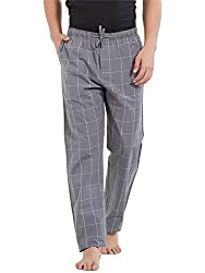 XYXX Mens Compact Cotton Checkered Pyjama-Lime & Blue Checks (100% Refund Guarantee if NOT satisfied)