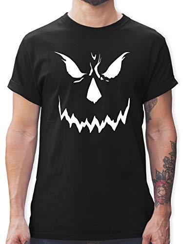 Halloween - Scary Smile Halloween Kostüm - XL - Schwarz - Horror Shirt - L190 - Tshirt Herren und Männer T-Shirts