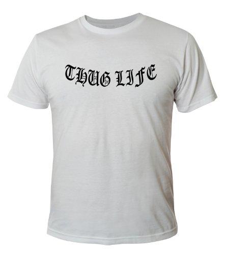 Mister Merchandise Cooles Herren T-Shirt Thug Life, Größe: XXL, Farbe: Weiß