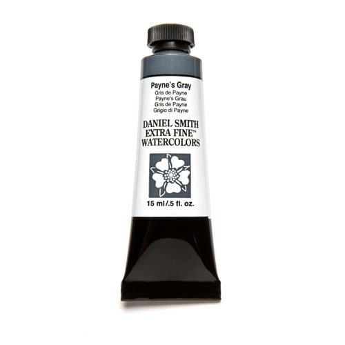 DANIEL SMITH 284600065 Extra Fine Watercolor 15ml Paint Tube, Payne's Gray