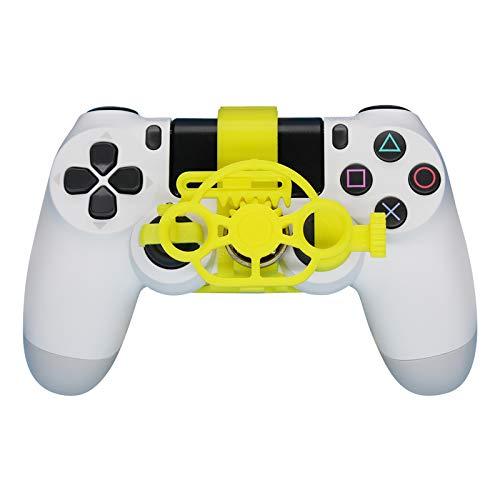 SHEAWA PS4 Game Controller Mini Lenkrad Ersatz für Sony PS4 Racing Game Zubehör (gelb)