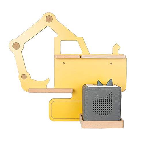 BOARTI Kinder Regal Bagger small in Gelb - geeignet für die Toniebox und ca. 23 Tonies - zum Spielen und Sammeln