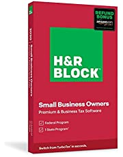 $55 » H&R Block Tax Software Premium & Business 2020 with Refund Bonus Offer (Amazon Exclusive) (Physical Code by Mail)