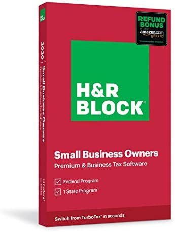 H R Block Tax Software Premium Business 2020 with 3 5 Refund Bonus Offer Amazon Exclusive Physical product image