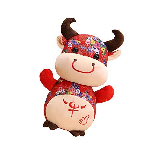 2021 - Peluche de vaca con forma de buey chino