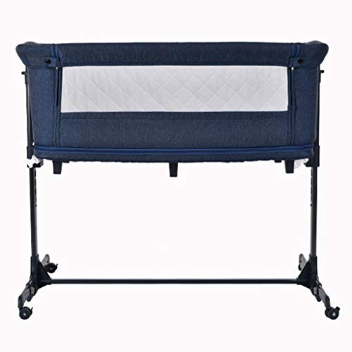 Best Buy! Balance Bouncer Cradle Bedside Sleeper Infant Swing Cradle Breathable Mesh Side Bassinet Portable Baby Folding Travel Cot Baby Crib Play Centre (Color : Blue)