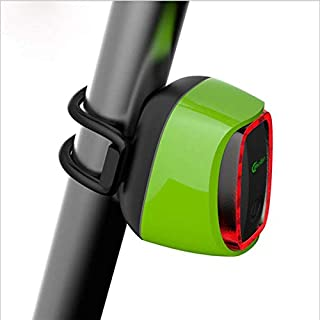 Dstyles Meilan X6 Smart Bicycle Tail Light USB Rechargeable 16 LED 6 Mode Cycling Bike Safety Warning Lamp Light Green