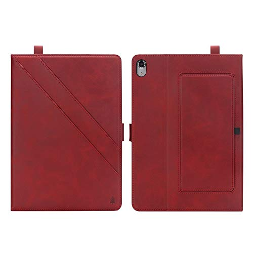 wangqianli For IPad Pro 12.9 Inch (3rd Generation, 2018 Model) Premium PU Leather Double Stand Tablet Case With Auto Sleep/Wake Function Cover (Color : Red)