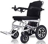 Silla de ruedas eléctrica Silla de ruedas eléctrica de aleación de aluminio de la batería de litio plegable ligero de edad avanzada con silla de ruedas for minusválidos Automatic Power Viaje cómodo y