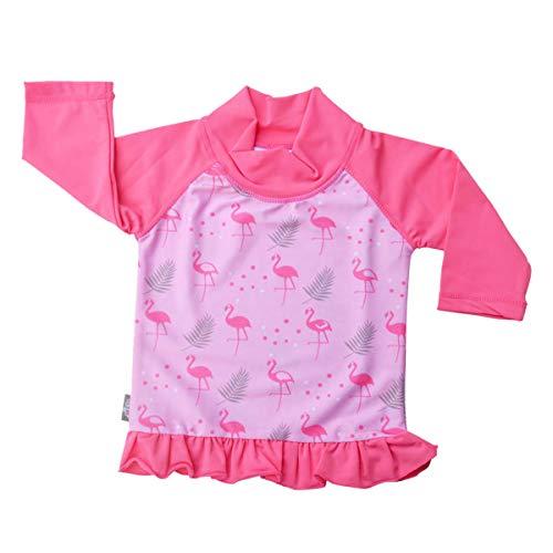 Jan & Jul Baby Kleinkind Kinder Ausschlag Schutz UPF 50 Sonnenschutz Shirt (UV Shirt XXL: 5 – 8Y, Flamingo)