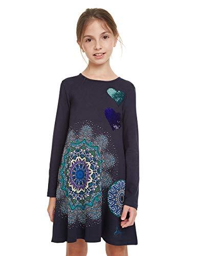Desigual Dress Pera Vestido, Azul (NAVY 5000), 8 años para Niñas