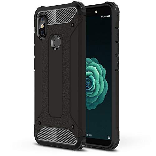 LXHGrowH Funda Xiaomi Mi A2, Fundas 2in1 Dual Layer Anti-Shock 360° Full Body Protección TPU Silicona Gel Bumper y Duro PC Armadura Carcasa para Xiaomi Mi A2 / Mi 6X, Negro
