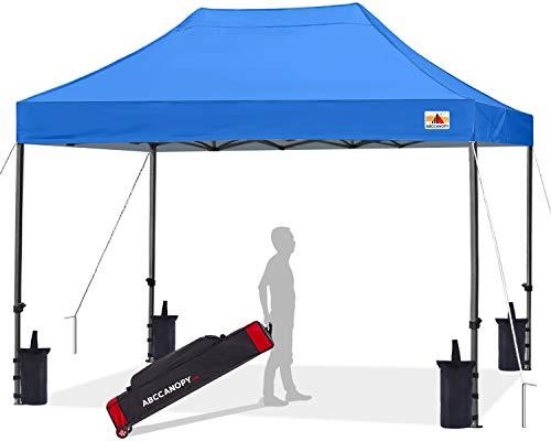 ABCCANOPY - Tienda de campaña de refugio instantáneo comercial con bolsa de transporte con ruedas, bolsas de arena