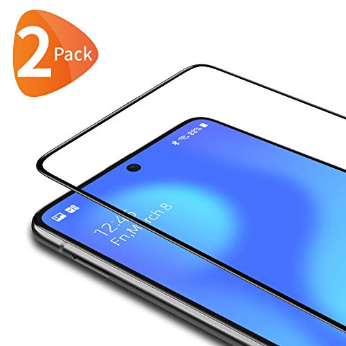 Bewahly Vetro Temperato Samsung Galaxy S10 Lite [2 Pezzi], Copertura Completa Pellicola Protettiva in Vetro Temperato per Samsung S10 Lite [9H Durezza, Anti Graffio, Alta Definizione] - Nero