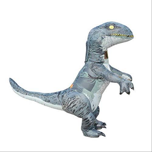 1yess Velociraptor de Halloween Traje Inflable del Dinosaurio del Tyrannosaurus mueca Inflable del Traje de Cosplay de la Historieta Que recorre Divertido