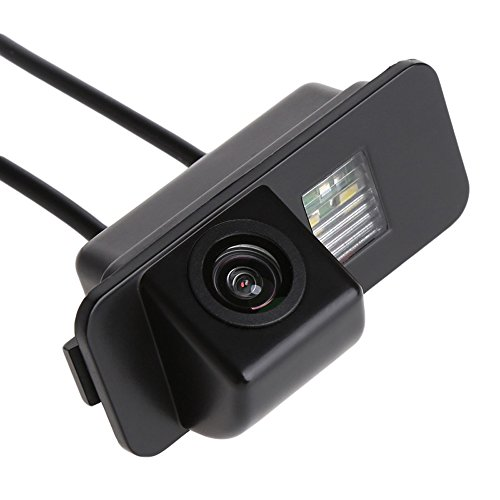 Navinio Auto Rückfahrkamera in Kennzeichenleuchte Einparkhilfe Fahrzeug-spezifische Kamera integriert in Nummernschild Licht für Ford Mondeo/Fiesta/Focus HATCHBACK/S-Max/Kuga