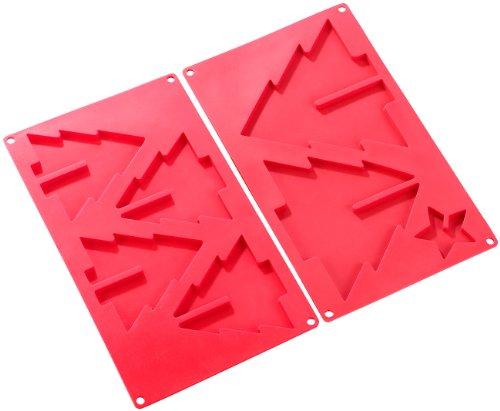 Rosenstein & Söhne Silikonform Tannenbaum: Silikon Backform für 3D-Tannenbaum, 2er-Set (Silikonform Weihnachtsbaum)