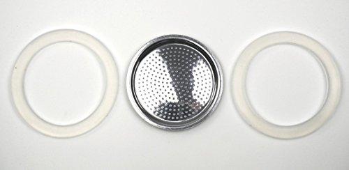 Gefu GF16250 2 Dichtringe / 1 Filter für GF16150