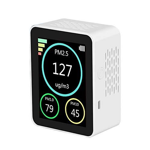 KKmoon Luftqualität Messgerät PM2.5 PM1.0 PM10 Tester Feinstaubmessgerät TFT-Farbbildschirm Dauerbetrieb - Weiß