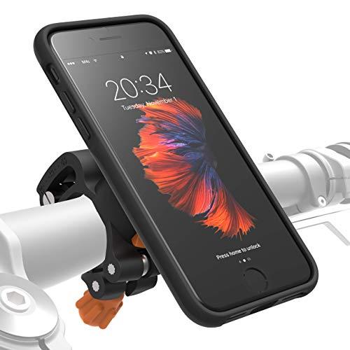 MORPHEUS LABS M4s Handyhalterung Fahrrad iPhone 8 / 7 Fahrradhalterung Halterung & iPhone 8 / 7 Hülle magnetisch fürs Rad, DropTest, mit Quick Lock, Bike-Kit passend für meisten Lenker schwarz