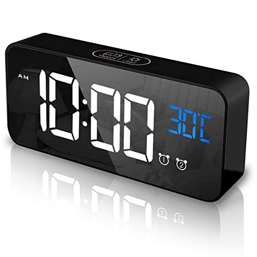 YingStar Reloj Despertador Digital LED Temperatura Inteligente...