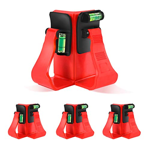 Bdmetals Corner Clamps, 4 Pack 90 Degree Right Angle Clamps, Built-in Spirit level for Woodworking, Corner Clamps Fixer for Carpenter, Drilling, Doweling,Making Cabinet,Installing Funiture.