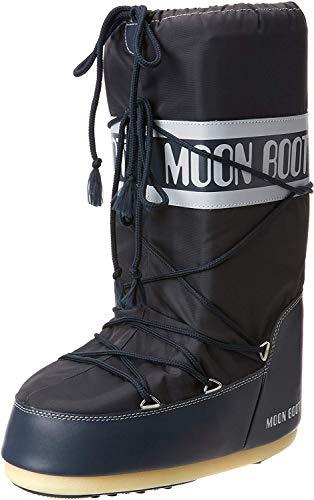 Moon-boot Nylon, Bottes de Neige Mixte, Blue Jeans, 35/38 EU