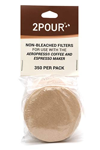 350x (1 Pack) Reusable Replacement Paper Filters Compatible With The Aeropress Coffee Maker / Aeropress Go - Vegan Non Bleached Natural - Free USA Shipping available!.