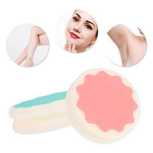 Esponja de depilación, eficaz herramienta de cuidado de la piel sin dolor para mujeres.