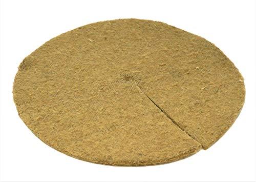 35cm Natural Jute Tree Spat Mulch Mat Pack of 10
