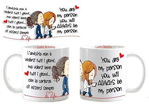 Tazza Mug Personalizzata Grey's Anatomy You Are My Person Amicizia